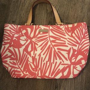 Kate Spade Tropical Pink Palms Mini Tote